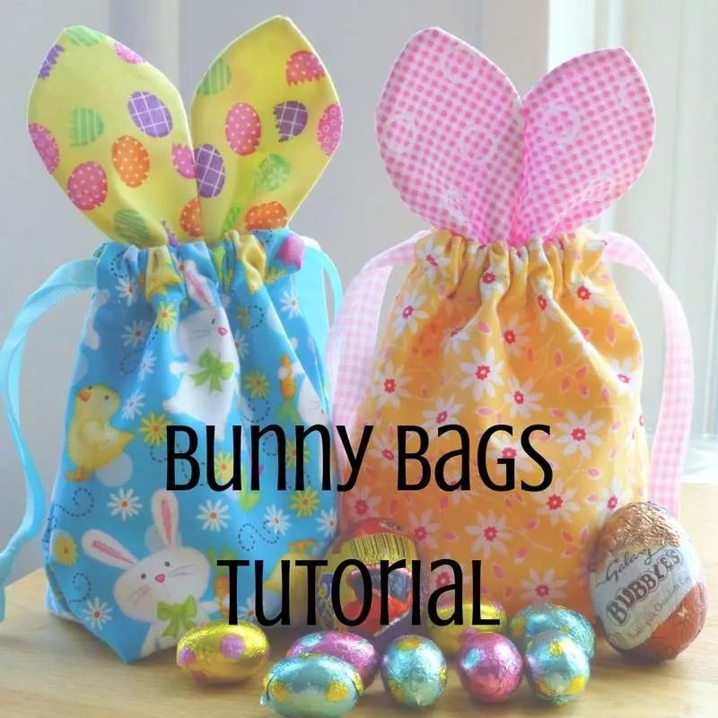 Easter bunny bags tutorial just jude designs quilting finishing at 4 wide by 7 tall incl ears they are the perfect size for filling with small chocolates and eggs negle Gallery
