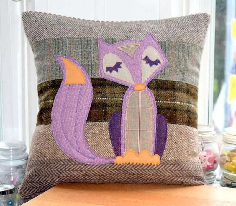 Tweed Fox Cushion