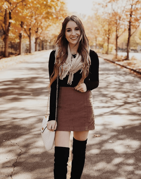 How to Style a Corduroy Mini Skirt for Fall