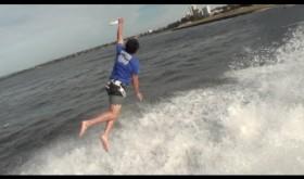 Amazing Frisbee Throw Off Australian Bridge | ThePostGame