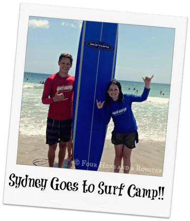 Sydney goes to surf camp