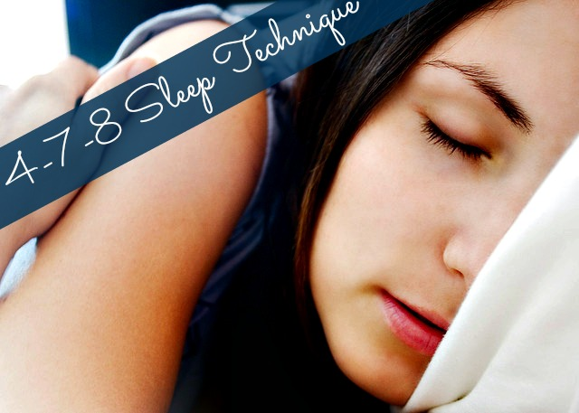 what is the 4-7-8 sleep technique