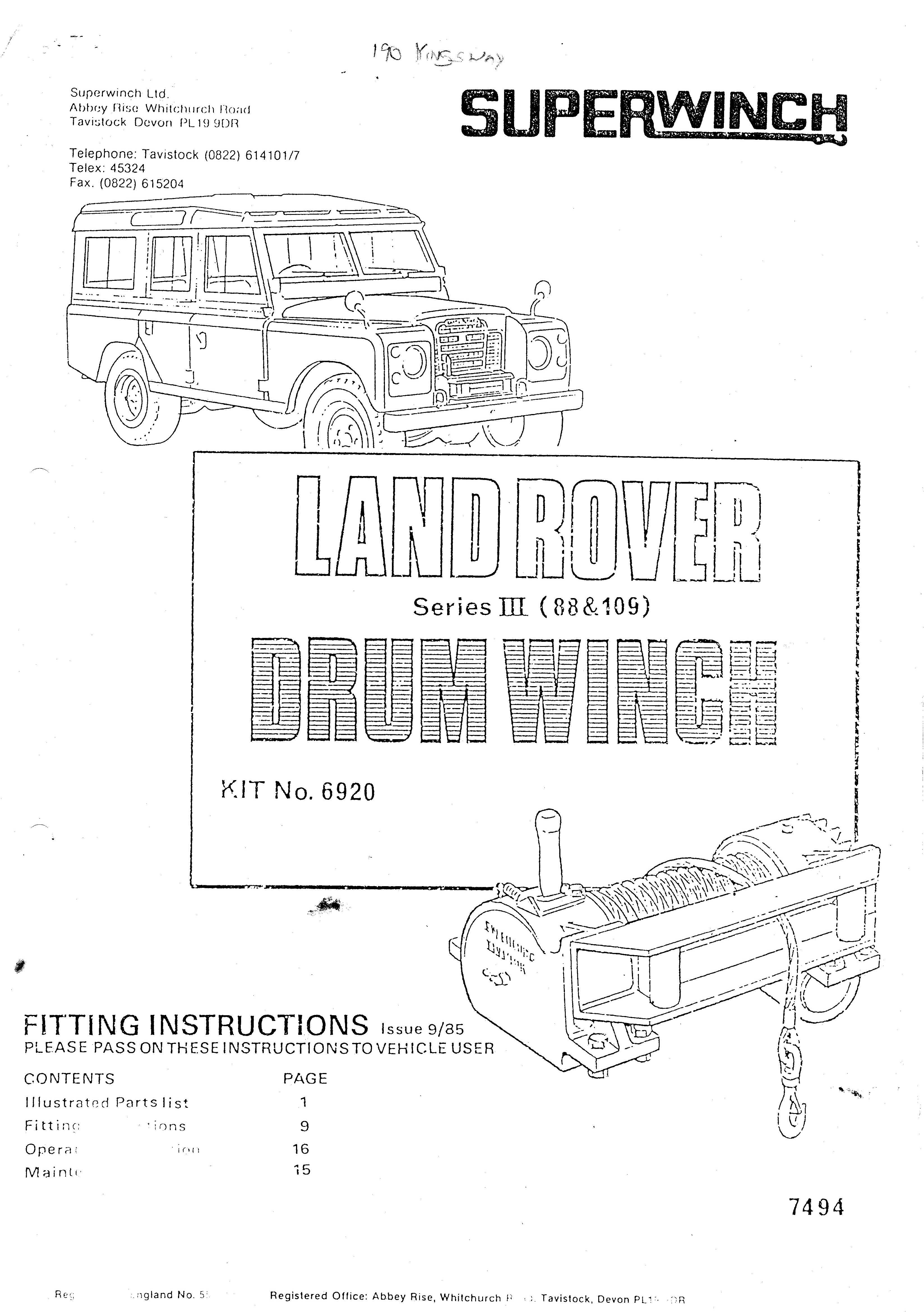 Land Rover Off Road Lights