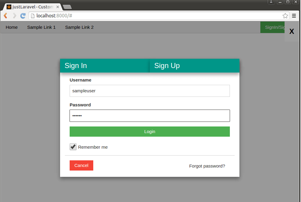 justLaravel – Custom Authentication
