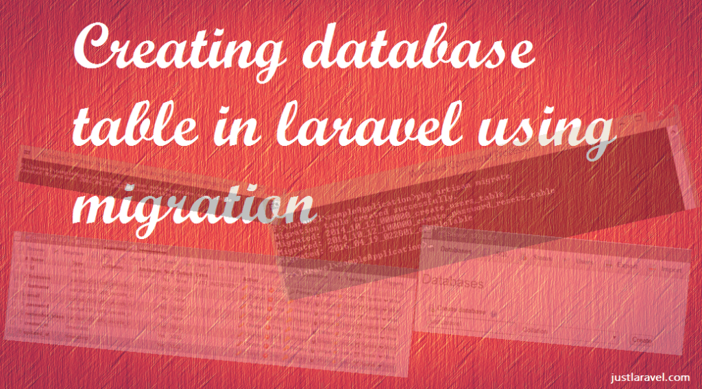 Creating database table in laravel using migration