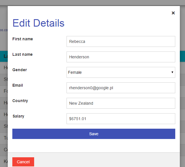 Bootgrid implementation in laravel – justlaravel.com
