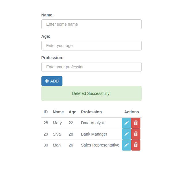 Vue js CRUD App - justlaravel.com