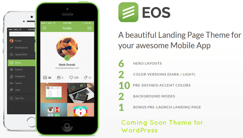 EOS EOS - A Responsive Coming Soon Template WordPress
