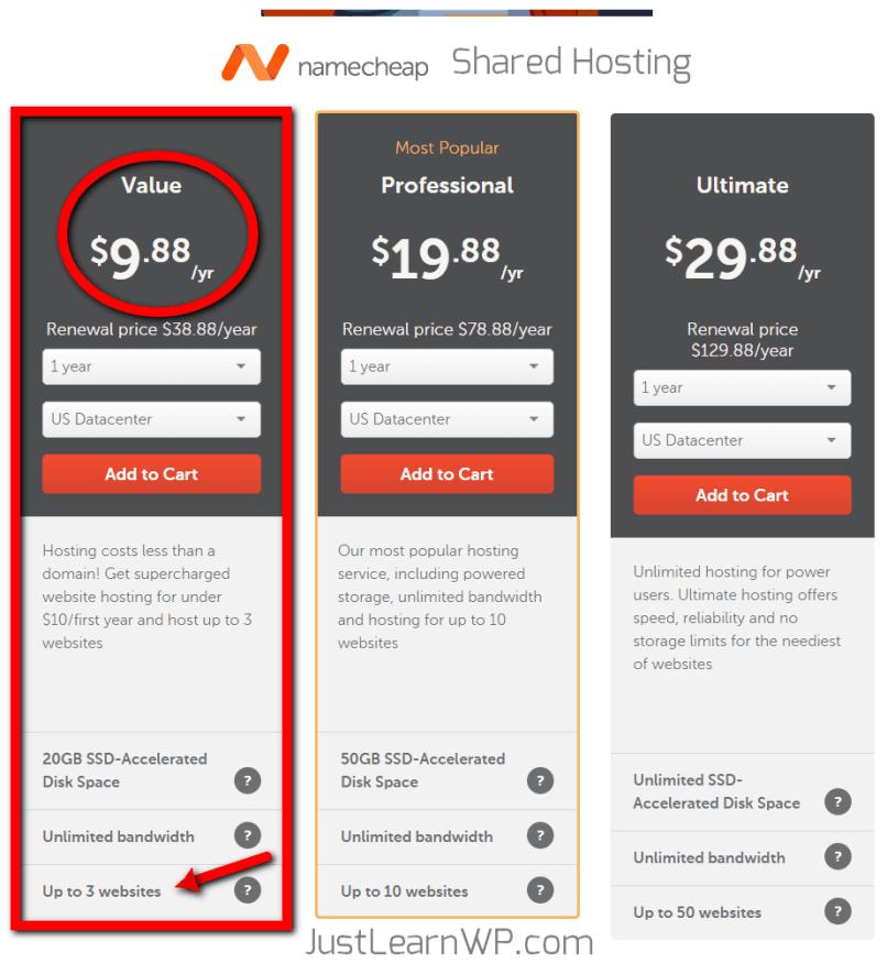 Cheap WordPress Hosting Compared - NameCheap