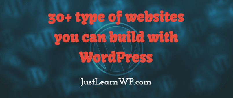 35+ type of websites you can create with WordPress.