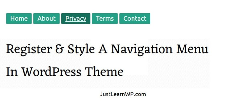 Register And Style A Navigation Menu In WordPress Theme