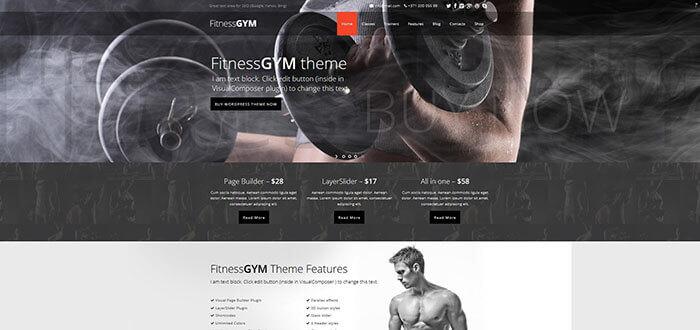 FitnessGYM - WordPress Sport/Fitness Theme