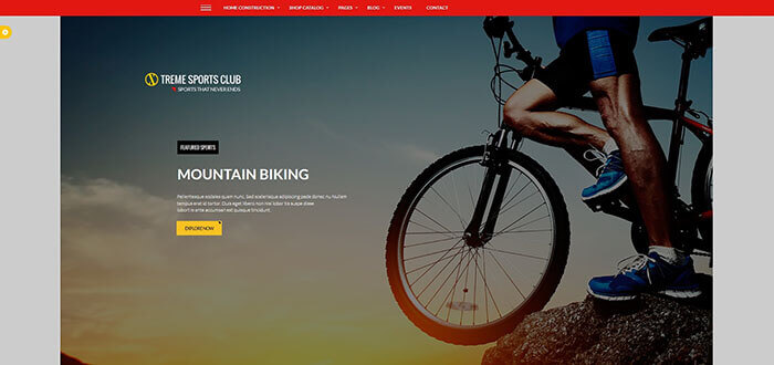Xtreme Sports - WordPress Club Theme