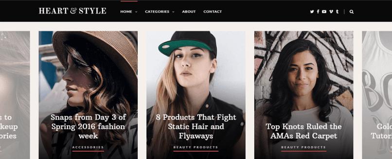 heart & style Magazine WordPress theme