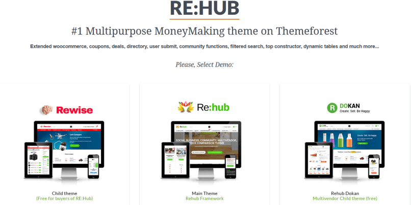 rehub Affiliate Marketing WordPress theme