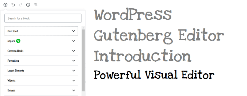 WordPress-Gutenberg -editor