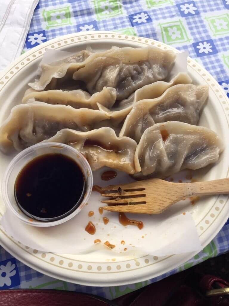 Vegan dumplings from King's Vegetarian Food