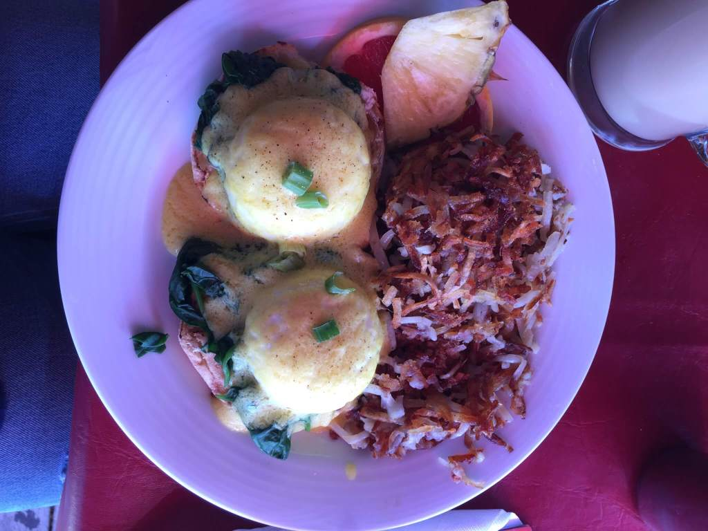 Eggs Benedict at The Bohemian Cafe