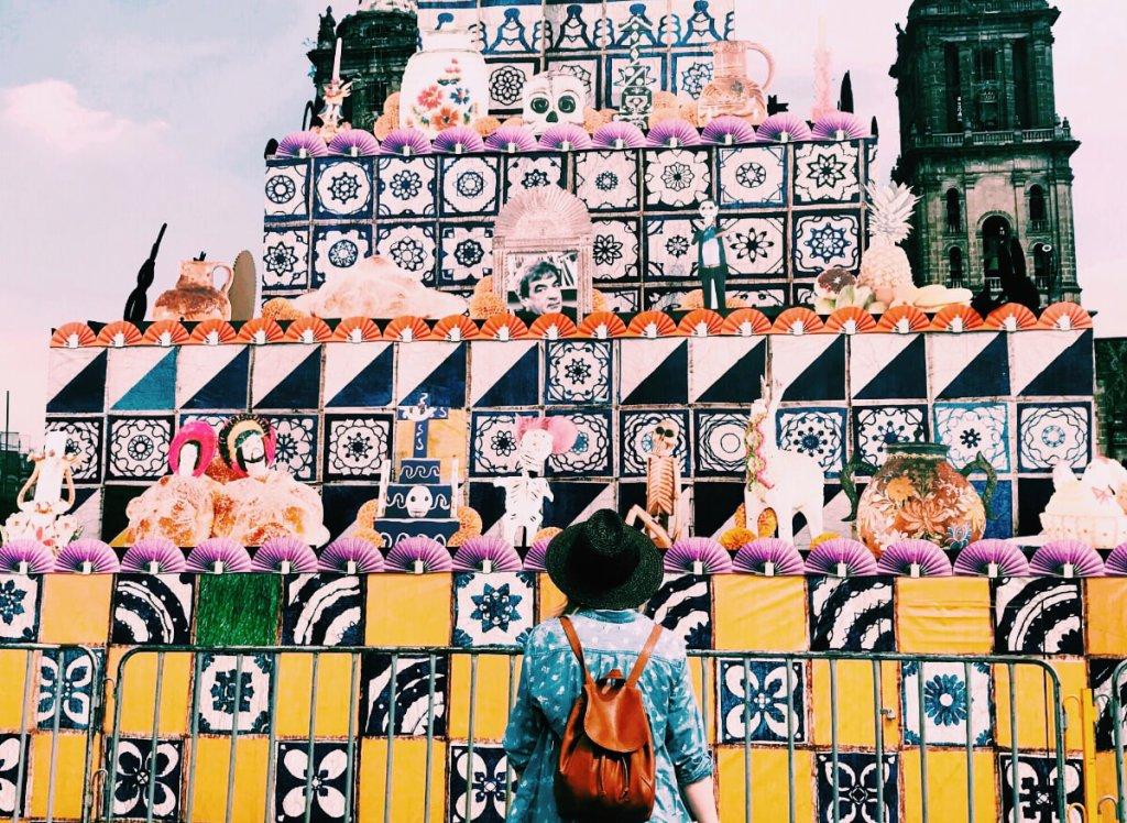 Ofrenda in the Zocalo   Day of the Dead in Mexico City