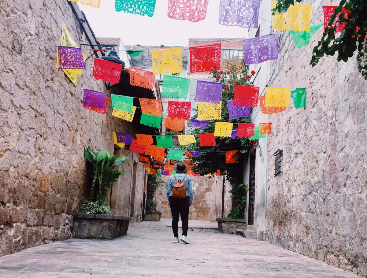 Visit Michoacán | Papel Picado in the Callejon del Romance