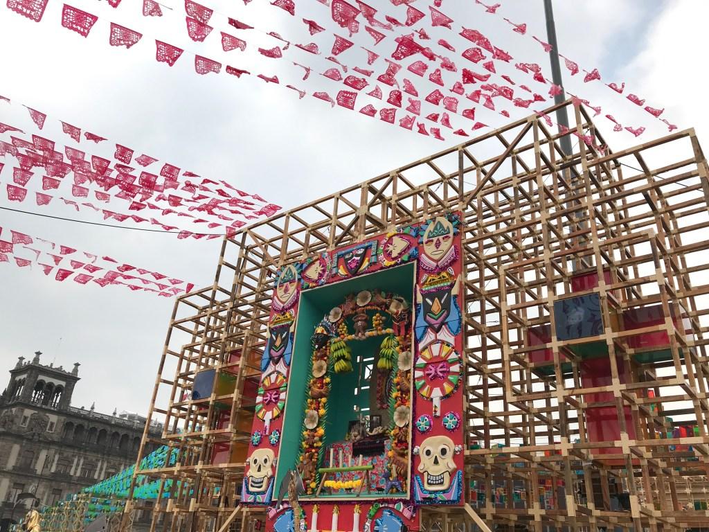 Ofrenda in the Zocalo | Día de los Muertos in Mexico City