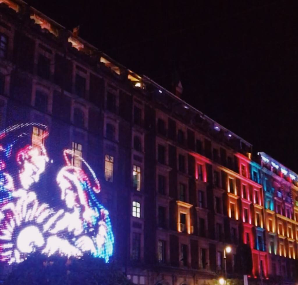 Christmas in Mexico City   Lights in the Zocalo