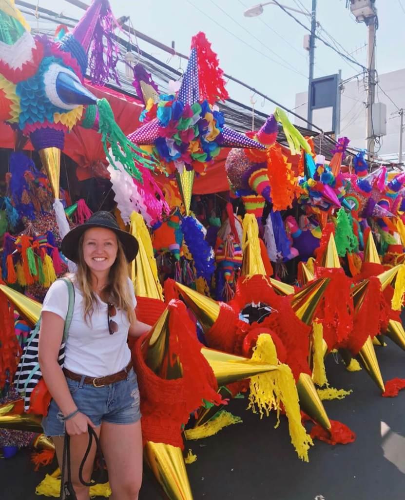 Christmas Piñatas   Christmas in Mexico City