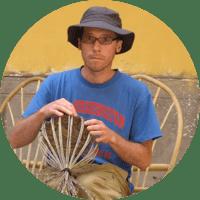 William Moore basket weaving