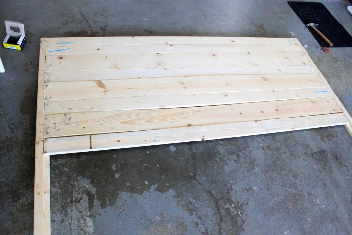DIY king size wood headboard