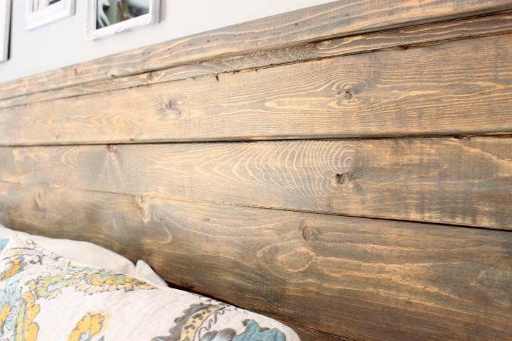 Distressed Wood Headboard (Standard King Size)