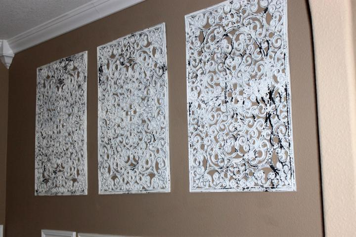 faux wrought iron wall decor