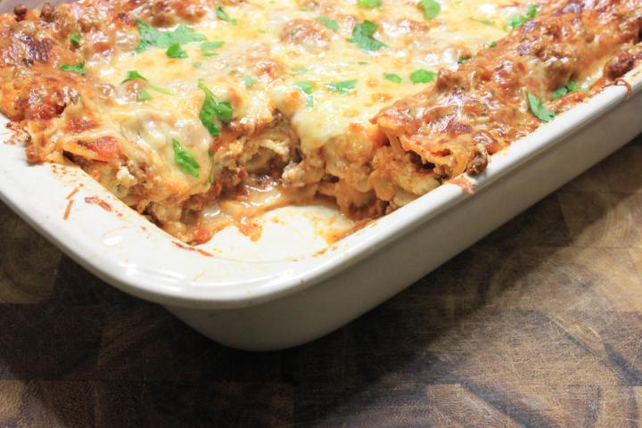 lasagna with meat sauce