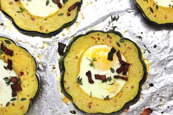 squash egg-in-the-hole