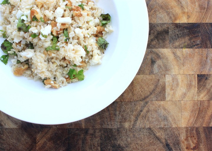 Walnut, Mint & Feta Brown Rice