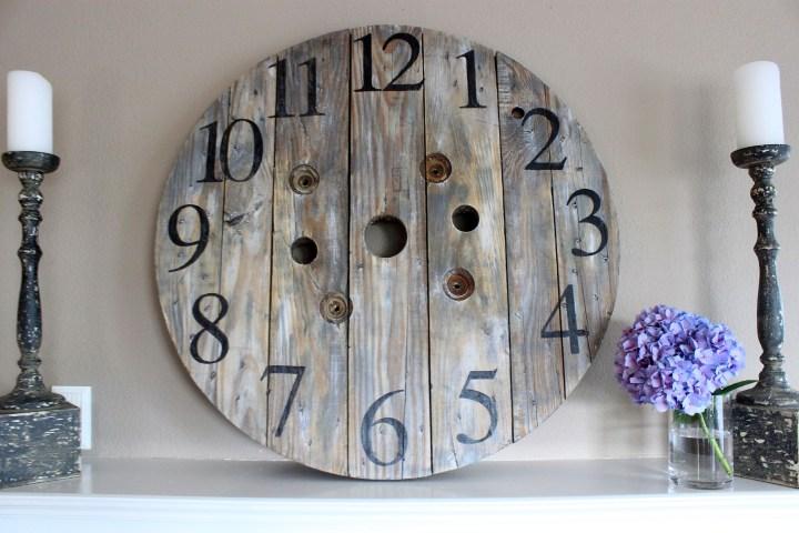 DIY spool clock