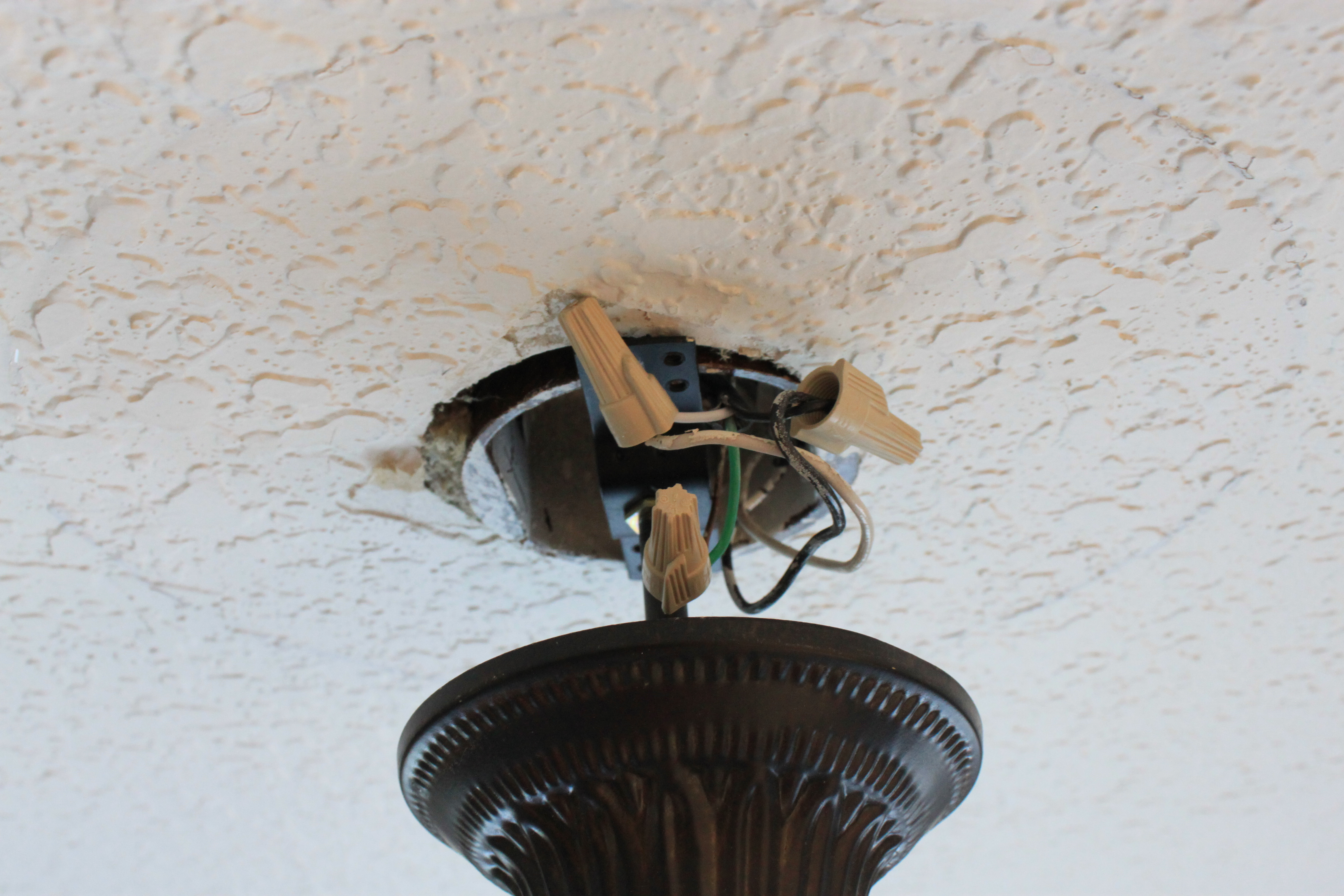 How To Change A Light Fixture Just Like Playing House Household Wiring Step 6 Test Your Electrical Work By Turning The Breaker Back On And Flipping Switch If You Turns Onsuccess Did It