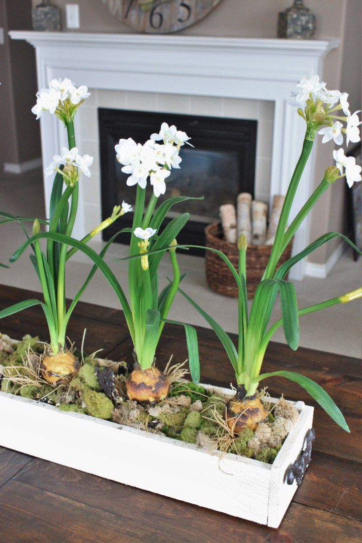 diy faux floral centerpiece