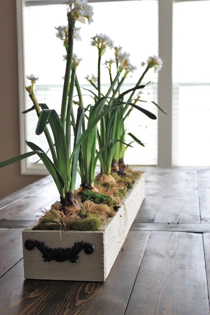 diy faux floral centerpiece