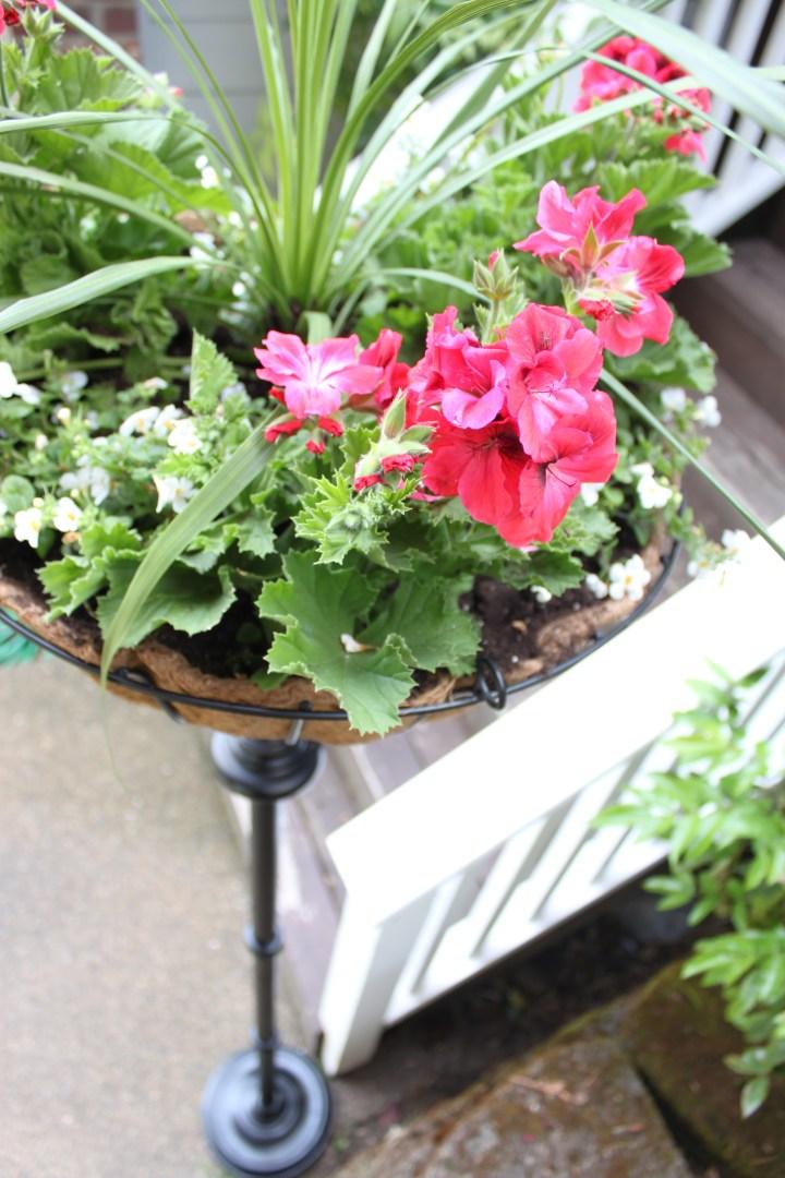DIY Flower Basket Stand