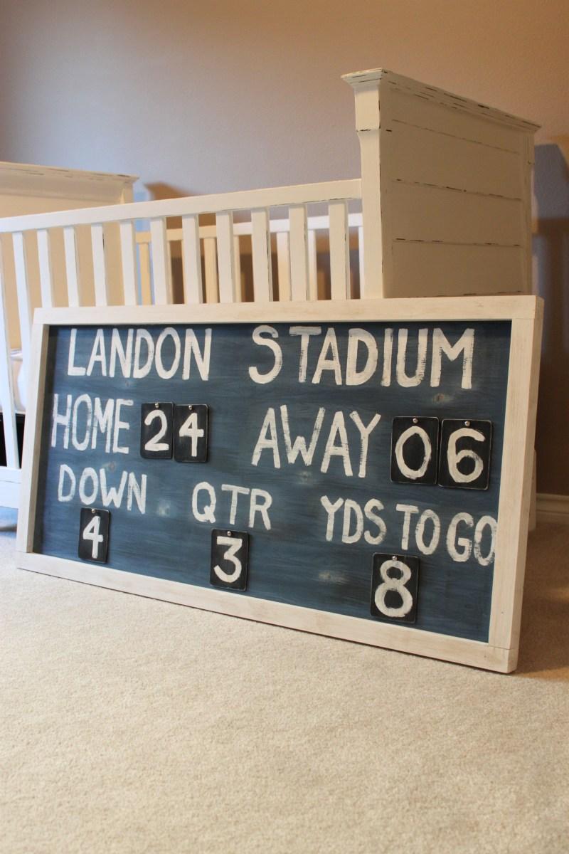 DIY Vintage Scoreboard