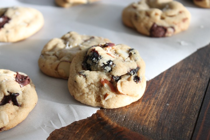 Cranberry Almond Chocolate Cookies