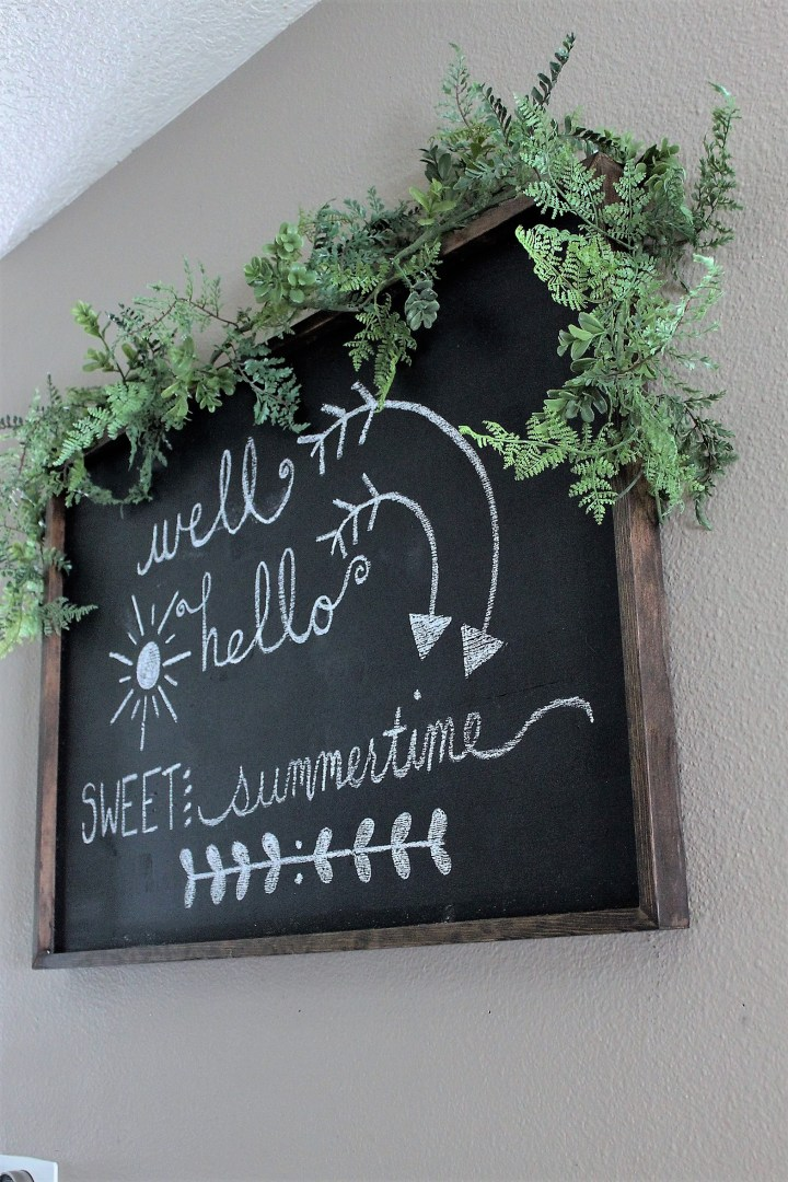 DIY Chalkboard Sign