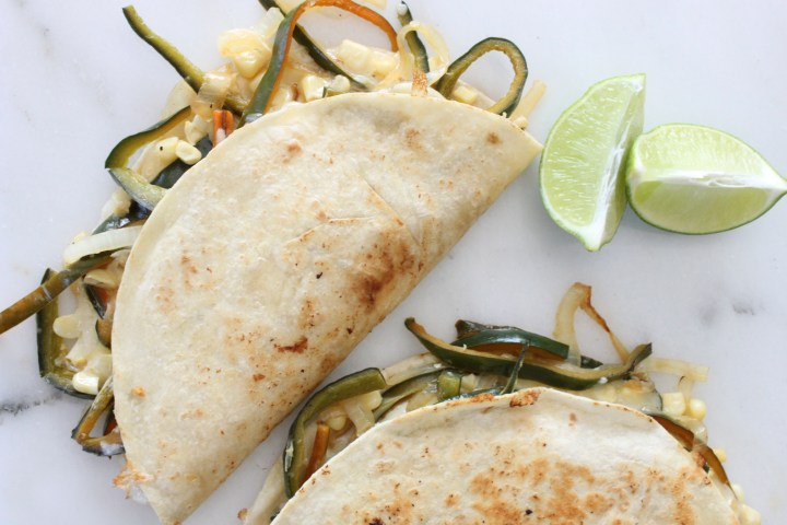 Poblano Corn Quesadillas