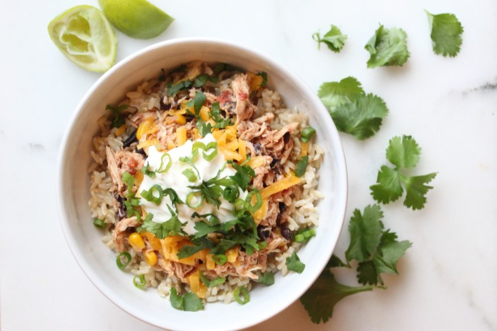 slow cooker chicken burrito bowl recipe