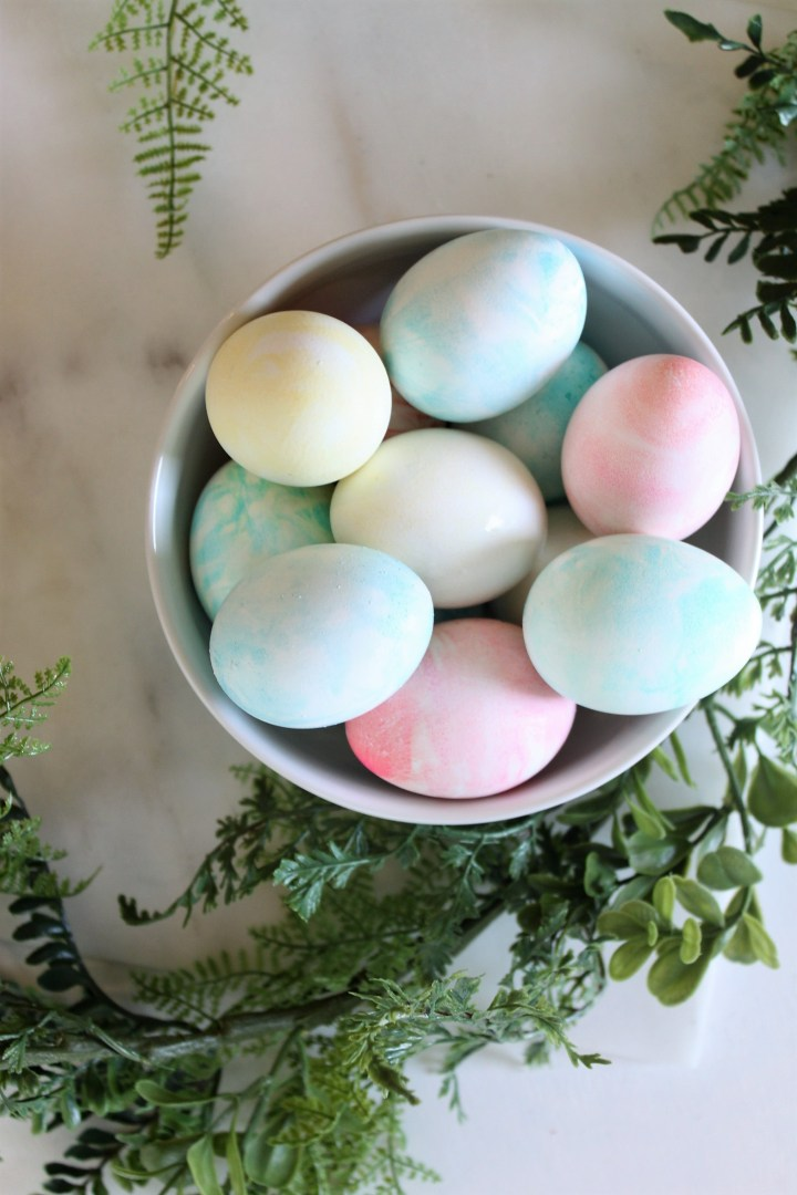 whip cream easter eggs