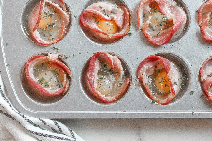 bacon & egg cups