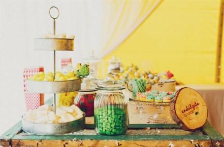 Candy Bar con colaboración con el sofa amarillo
