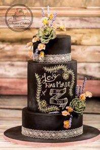 Wedding cake _ love was made
