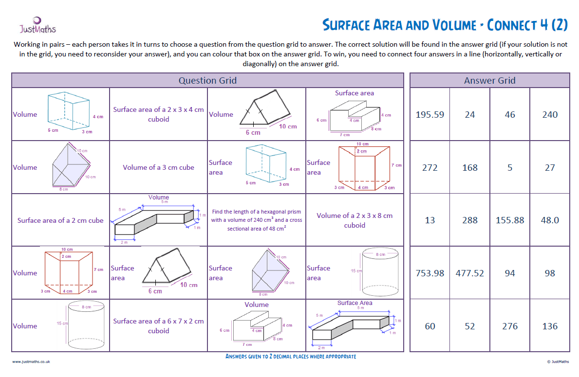 Surface Area And Volume Revision