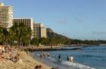 Waikiki Beach with Diamond Head